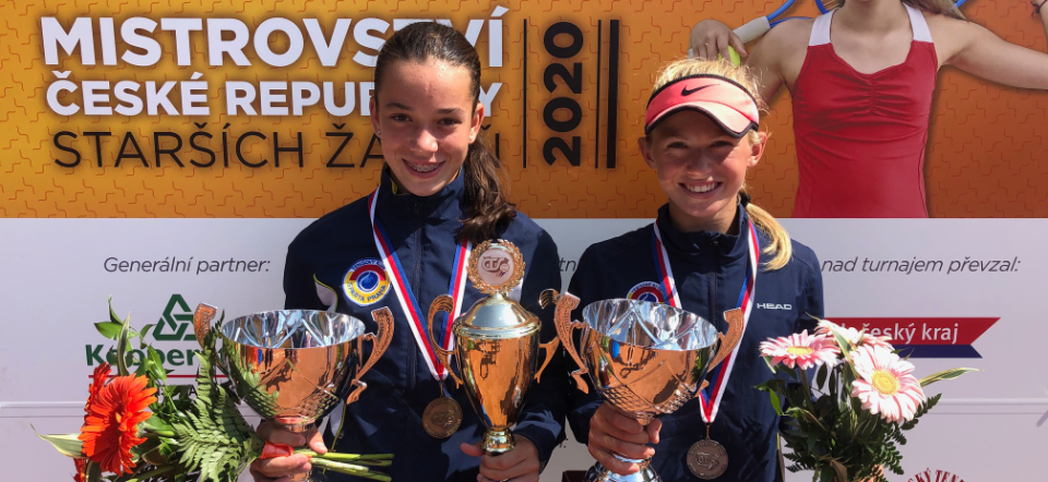 Valentová-Samsonová finále mistrovství České republiky starších žákyň