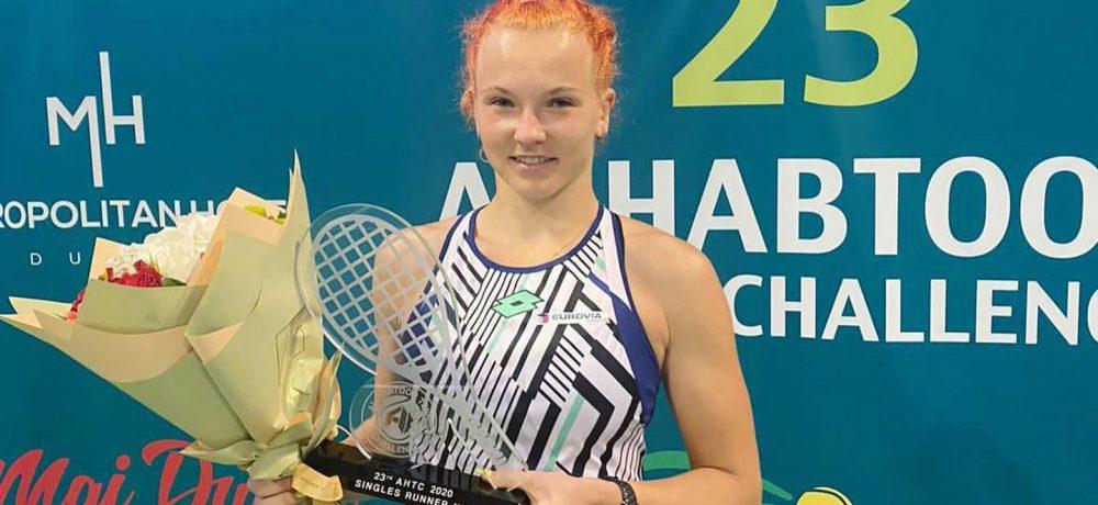 Kateřina Siniaková ve finále v Dubaji